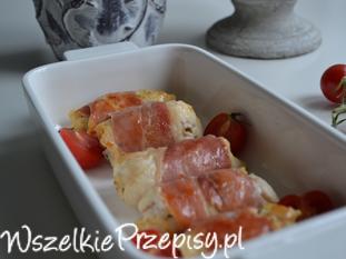 Roladki ze schabu z  suszonymi pomidorami ,szpinakiem i szynką parmeńską