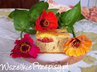 Ciasto piernikowe ze śliwkami