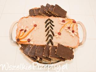 Mazurek czekoladowy do przygotowania z córką