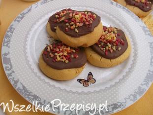 Bezglutenowe ciasteczka z czekoladą.