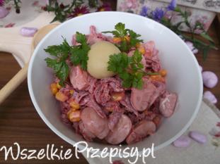 Ekspresowa sałatka z marynowanych warzyw.