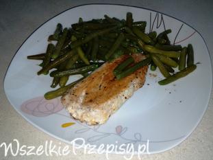 Grillowana pierś z kurczaka z fasolką szparagową