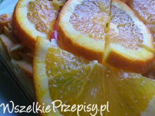Mazurek pomarańczowy z marcepanem