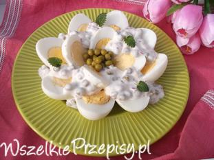 Jajka z groszkiem