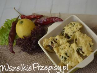 muszle nadziewane brokułem i pieczarką