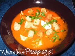 Zupa pomidorowa z grzankami