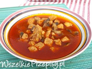 Mięsna zupa