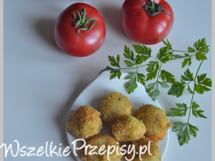 Ziemniaczane kuleczki z parmezanem i brokułem