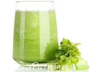 Oczyszczający zielony koktajl ze szpinakiem