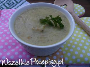 Cukiniowo - kalafiorowa zupa - krem.