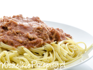 Spaghetti z polędwicą z tuńczyka