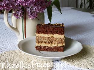 Ciasto orzechowo - kawowe