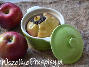 Kaszanka pieczona w jabłku