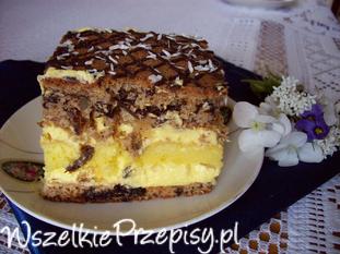 Śliwkowo ananasowe ciasto
