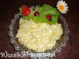 Sałatka porowo-jajeczna