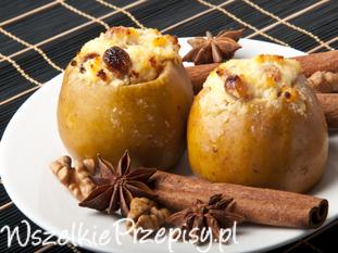 Jabłka pieczone z ricottą