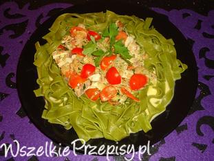 Makaronowy tuńczyk w sosie camembert