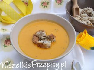 Marchewkowa zupa - krem z mleczkiem kokosowym.