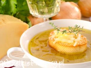 Zupa cebulowa po francusku