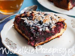 Zdrowe ciasto z jagodami