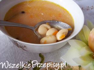 Zupa fasola po bretońsku