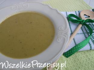 Brokułowo-groszkowa zupa krem.