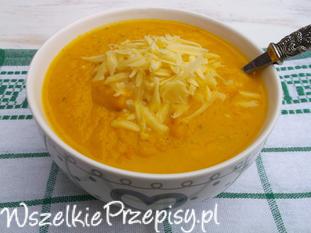 Zupa krem z kalafiora i marchewki z serem żółtym