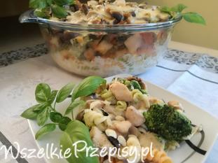 Zapiekanka z brokułami i mozzarella