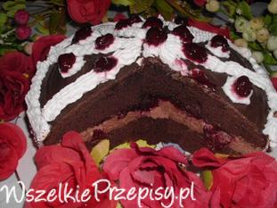 Torcik czekoladowo - wiśniowy
