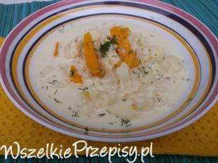 Kalafiorowo-serowa zupa