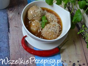 Pulpety w sosie sezamowym