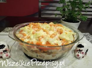 Schab z ryżem i warzywami