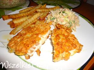 Ryba z płatkami kukurydzianymi