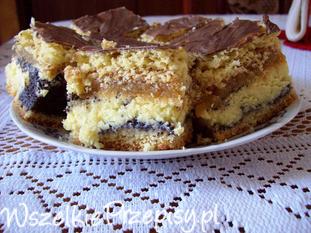 Makowo serowe ciasto