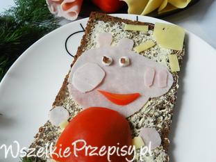 Kanapka- swinka Peppa