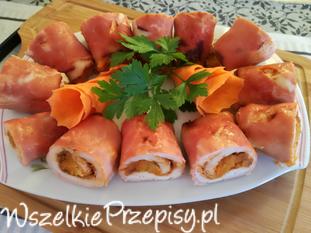Roladki nadziewane ziemniakami z marchewką