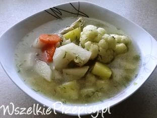 Letnia zupa z warzywami