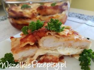Lasagne w sosie barbecue - schabowe