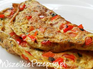 Omlet z papryką i pietruszką