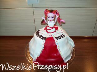 Tort z lalką