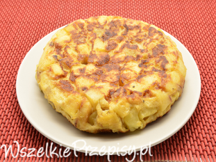 Omlet z ziemniakami po hiszpańsku