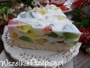 Ciasto ,, Kolorowe szkiełko '' .
