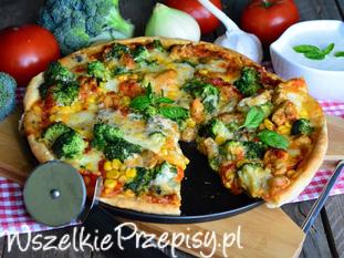 Pizza z brokułem i 4 serami