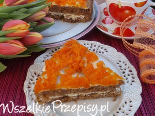 Ciasto marchewkowe z mascarpone i karmelizowaną marchewką.