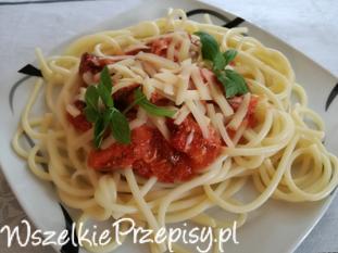 makaron spaghetti z kurczakiem