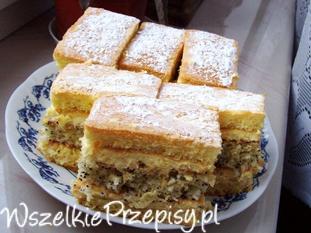 Ciasto z wkładką kokosowo- makową