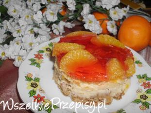 Sernik z mandarynkami i galaretką