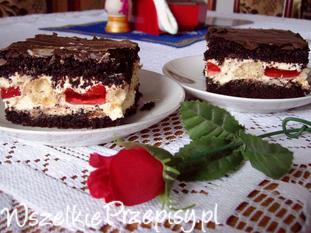 Ciasto makowe z galaretką i biszkoptami