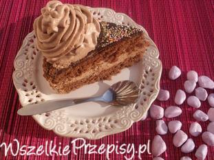 Tort urodzinowo - czekoladowy.