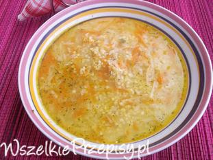 Zupa z kaszą jaglaną i warzywami